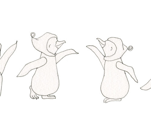 Dancing Penguin Sketch